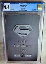 Superman #75 Poly-bagged Edition - D.C. Comics 1993 Cgc 9.4 Nm Wp - Comic J0098