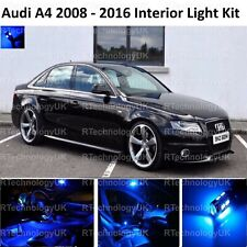 BLUE PREMIUM AUDI A4 S4 B8 2008 - 2016 LED INTERIOR UPGRADE KIT SET XENON WHITE