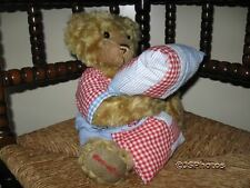 Metro Soft Toys UK Benjamin Bear with Pillow 9th LE Jointed 14 Inch