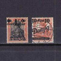 DANZIG GERMANY 1920, Mi# 41 III, 46 III, MH/USED