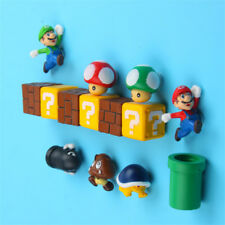 10PC Super Mario Funny Game 3D Refrigerator Magnet Pvc Note Posted Sticker Decor