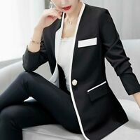 Jacket Suit Top Ladies Jacket Long Sleeve Coat Casual Outwear Slim Blazer Women