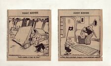 Funny Business by Ralph Hershberger - 27 daily comic panels Complete August 1940