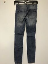 Bullhead High Rise Skinniest Size 1 Jeans Destroyed Look
