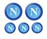 Napoli Adesivi Stickers  squadra calcio logo Napoli 5 pezzi