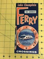 Vintage Travel Brochure Lake Champlain Ferry Crossing 1965 Schedules