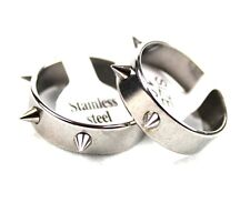 wholesale 36pcs silver punk style spikes stainless steel band jewelry band rings