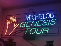 MICHELOB GENESIS TOUR Rare NEON SIGN Invisible Touch 1986-87 Beer Bar Lighting