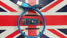UK Stock Arduino Nano V3.0 CH340G 5V 16M compatible ATmega328P Headers USB Cable