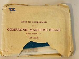 VTG 1959, Compagnie Maritime Belge, Cruise Menus, Brochures, 2 BIG Deck Plans