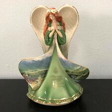 Bradford Exchange May Angels Gather Round Emerald Isle Irish Angel Figurine