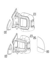 2015-2019 RAM Promaster power folding heat left hand driver Side View Mirror OEM