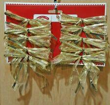 Holiday Time 10-pc Shimmer Gold Mesh Small Christmas/Wedding Ribbon Bows