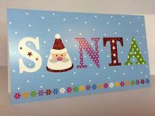 Set of 8 Cards & 8 Envelopes Santa Merry Christmas Holiday Greetings Splendor