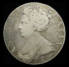 QUEEN ANNE 1708/7 SILVER CROWN - FINE