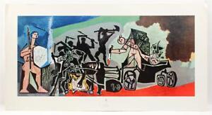 1968 Rare Picasso La Guerre Lithograph Cubist Midcentury Original Print #381T