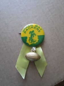 1940's Green Bay Packers Vintage Football Pin w/ Old Football Charm