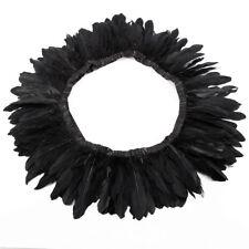 Black 200cm Goose Feather Skirt Trimming Cloth Fringe Sewing DIY