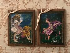 *New* 5 Handcrafted Wooden Fairy Ornaments/Fairy Hang Tags Set2