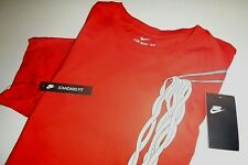 nike AIR mens standard fit athletic crew neck cotton graphic t-shirt - Med - red