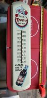 VINTAGE Drink Frosty ROOTBEER Thermometer Sign