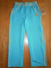 L@@K! NEW GIRLS NIKE SURF BLUE SWEATPANTS EMBROIDERED LOGO YOGA PANTS 4 $36.00