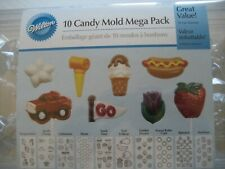 CANDY MOLD SET 10 Plastic Molded Trays NEW by Wilton