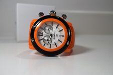 Glam Rock Women's Miami Beach Chrono White Dial Orange Silicone Watch GD1111