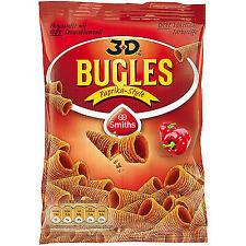 12 Tüten Bugles Paprika Style a 100 g frisch Orginal 3 D