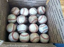 Lot of 32 Well Used Baseballs Little League Batting Fielding Practice Hard Balls