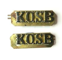 Kings Own Scottish Borderers Staybrite Shoulder Title Pair with back plates