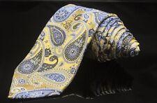 Giorgio Brutini Mens Multi Color Paisley Thick 100% Silk Tie