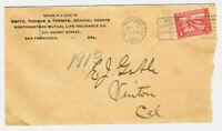 "U.S. Scott #398 ""Panama Pacific Exposition 1915"" Cover to Vinton Cal Rare Destin"