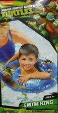 """TMNT Teenage Mutant Ninja Turtles Swim Ring 18.5"""" Tube Raft Float NEW Pool Toy"""