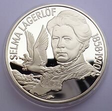 Sweden 20 Euro 1996 Silver coin Proof Selma Lagerlof 1858 - 1940