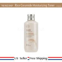 THE FACE SHOP Rice & Ceramide Moisture Toner 150ml + Free Sample [US Seller]