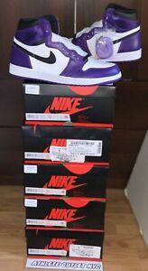New Nike Air Jordan Retro 1 High OG Court Purple Men's Size 13 Sneaker 55088-500