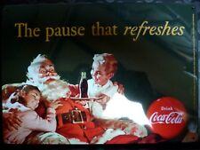 COCA COLA ➤ Plaque publicitaire aluminium émaillé Advertising plates enamelled