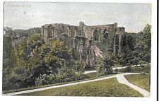 Furness Abbey, PPC 1906 Local PMK - Barrow to Ayrshire