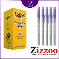 BIC PURPLE PENS  ROUND STIC PENS IDEAL FOR TEACHERS AND OFFICE WITH FREE POSTAGE