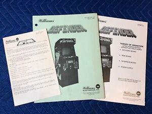 Original Williams Defender Instruction Manual Schematics Theory of Operation '81