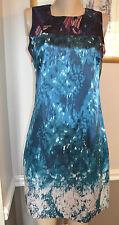 STUNNING NWT T TAHARI ZENITH BLUE POLY/ELASTHANE DEMITRA DRESS, sz 8