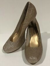 NWOB Madden Girl Women 8.5 Getta Gold Glitter Stiletto