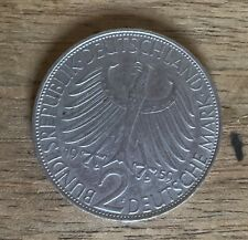 2 Deutsche  Mark 1959 F Germany Max Planck