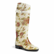 Lauren by Ralph Lauren Rosalyn In floral Wellington Wellies Boots  US10 UK7,5