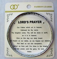 The Lord's Prayer Inspirational Silver Plated Engraved Bangle Bracelet Gift
