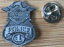 "Harley Davidson ""POLICE 1"" badge - lapel pin"