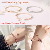Ladies Creative Initial Knot Heart Charm Bracelets Adjust Chain Bangle Jewellery