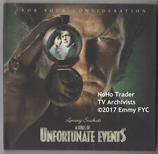 RARE 2017 Emmy FYC DVD LEMONY SNICKET'S SERIES OF UNFORTUNATE EVENTS NETFLIX 3ep