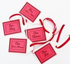5 X VALENTINES DAY LOVE COUPONS VOUCHERS JOKE, FUN VALENTINES TICKETS BIRTHDAY
